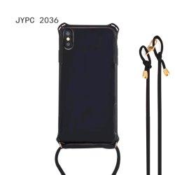 Fabriek aanpassen rubberen mobiele telefoon case en Wholesalse nieuwe Hot IPhone 11 Case Silicone Mobile Glitter Weving Phone Cases met Lange handgreep voor iPhone 11 PRO
