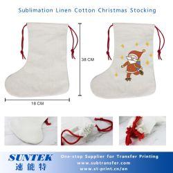 Sublimation-sind- Leinenweihnachtssocken/-beutel heiße Verkäufer
