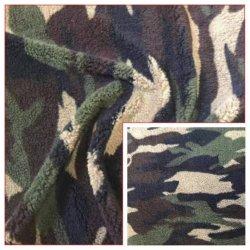 de Breiende Stof van de Vacht 100%Polyester Shuvelvteen met Afgedrukt