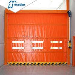 Master bien solide en aluminium de grande taille de l'arbre à haute vitesse d'empilage des portes en PVC pour l'entrepôt