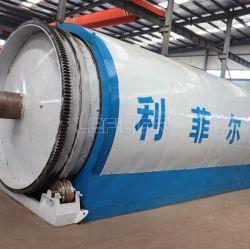 China pneu/resíduos de plástico/borracha planta de pirólise de reciclagem de óleo combustível de aço do Fio Preto carbono