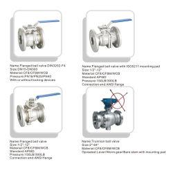 API 6D 2PCカーボン/Stainlessの鋼鉄クラス150/300 (lb)産業油圧制御製造業者のための衛生フランジを付けたようになった球弁