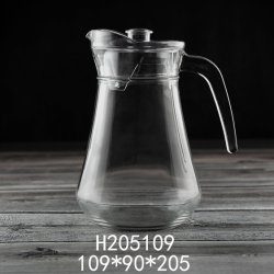1450ml elevado de vidro de cor de vidro branco vidro grossista bule de garrafa de vidro vidro logotipo personalizado panela de água (H205109)