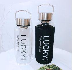 휴대용 스포츠 음료 소매 강철 손잡이 BPA로 자유롭게 체조 옥외 하이킹을%s 큰 20oz~60oz 물병 유리