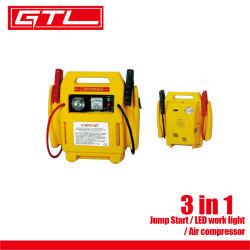 3 em 1 LED de luz de trabalho do compressor de ar de arranque com cabos auxiliares (48220009)