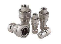 Attacco rapido idraulico ISO B in acciaio inox KZF