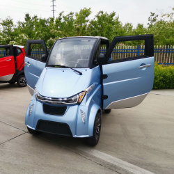 De Chinese Elektrische Goedkoopste Mini Auto 4 Wielen van de Auto met Door de EEG goedgekeurd