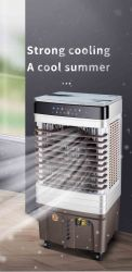 precio de fábrica en el interior del enfriador de aire por evaporación brisa móvil