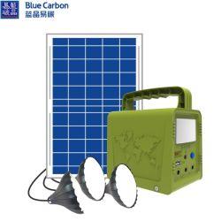 Lampen-Fackel 2020 neues des Entwurfs-blaues Kohlenstoffbct-preiswertes Lithium-13000mAh Batterie-AusgangssolarStromnetz-Sonnenenergie-Beleuchtung-Installationssatz-LED
