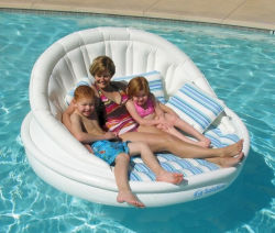 Relaxado flutuante água insufláveis cadeiras Sofá