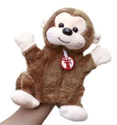 2021 Hot Sale Kids Factory Brown Monkey gevulde Animal Toy Klein Puppet thereat pluche Toy pluche Monkey hand Puppet