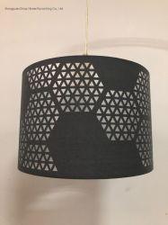 Corte a Laser do tambor de Design Abajur em cinza