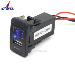 2.1A مقبس طاقة USB ضوء LED مقاوم للمياه شاشة جهاز قياس الفولتية الرقمي شاحن سيارة تيار مستمر بجهد 12 فولت تلقائي