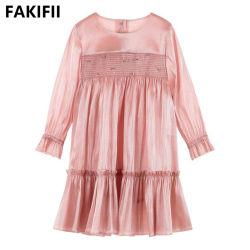 2021 пружину новейших Fashion высокого качества со стороны производителей одежды для девушек детского шелкового платья