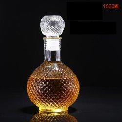 Slim 250 ml de vino de cuello de botella de vidrio Tapón de rosca