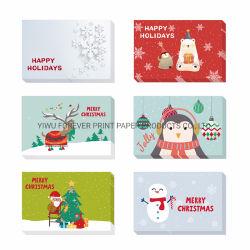 Impressão personalizada direto da fábrica para cartões de felicitações de luxo Favor Fancy Visitar Dom Obrigado a granel de cartões