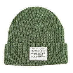 Il commercio all'ingrosso ha lavorato a maglia i cappelli su ordinazione del Beanie della zona del cuoio dello Slouch del Mens della protezione del Beanie