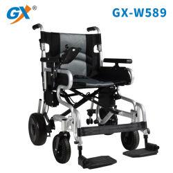 軽量のアルミ合金のFoldable電動車椅子、結合されたブレーキが付いている低下のハンドル