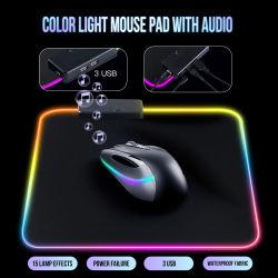 Multifunktionale 3 Micro USB& Lautsprecher RGB Mouse Mat