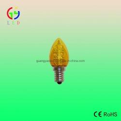 Verlichting van de LEIDENE C7 E14 Vakantie van de Basis de Transparante Gele Met een laag bedekte