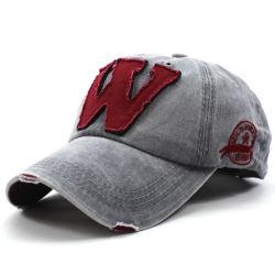 2021패션 맞춤 제작 낡은 핸드메이드 빈티지 난해한 우븐 패치 100% 면 야구 모자