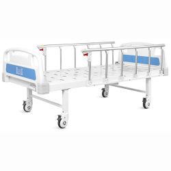 Портативный самоустанавливающиеся колеса с одной функцией складной металлический клиника мебель медицинский уход за больными пациента регулируется вручную больничной койки