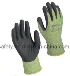 ワークショップ作業者保護緑耐切断フォームニトリルコーティングアーク 安全作業用フラッシュ手袋