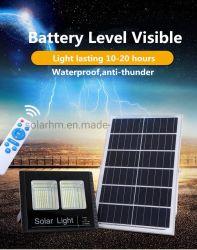 ソーラーガーデンライト屋外用 25W 65W 150W 300W ソーラー LED フラッドライト(パワーディスプレイ付)