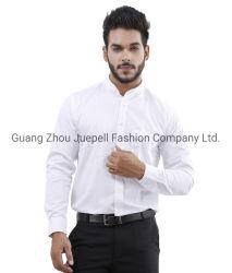 Classic d'affaires décontractée des hommes de coton à manches longues Tee-shirt blanc