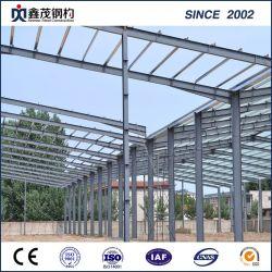 Struttura d'acciaio prefabbricata prefabbricata della costruzione di blocco per grafici della sezione di H per il workshop