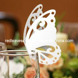De Kaart Ec1108-01 van de Plaats van de Decoratie van het Huwelijk van de Vlinder van het ivoor