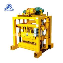 O cimento concreto Manual da máquina para fabricação de tijolos de cinzas volantes Bloco Oco