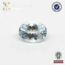 卸し売り緩い宝石類のための楕円形によって切られる自然なアクアマリンの石