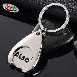 سلّة جميلة لون لون [كبسين] تسوق عربة [كّن] معدنيّة مخصص سلسلة مفاتيح الشعار للبيع