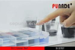 La luz de dos componentes líquido azul elástica de gel de silicona