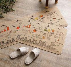 Очистите шаг вход дешевые Custom напольный коврик