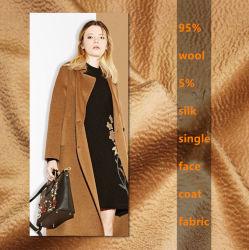 Fibra Natural 95% lã 5% Seda Água Blend ondulação de tecido padrão para lubrificar