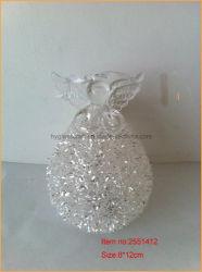 Natal Anjo de vidro com luz de LED