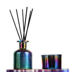熱い販売の香りの拡散器の金属カラーびんの方法によって100mlは芳香が家へ帰る