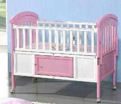 سرير أطفال من الخشب الصلب ملون مع العديد من الألوان (M-X1168)