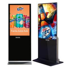 OEM 55 Inch piédestal perpendiculaire verticale LCD autonome une utilisation en intérieur de la publicité Player Sigital signalisation et l'affiche