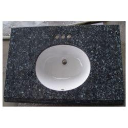 Parte superiore blu di pietra naturale di vanità del granito della perla