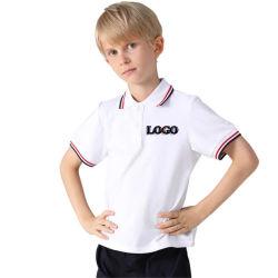 100% algodón orgánico Unisex Ropa de niños uniforme escolar camisetas polo