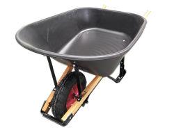 De houten Kruiwagen van het Wiel van de Lading van het Dienblad van het Handvat Plastic Grote