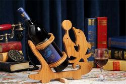 Rack de Vinho Madeira e bambu para decoração