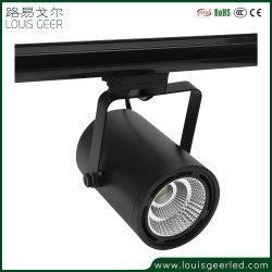 Kleidung-System-Cer RoHS energiesparende Birnen schwarzes weißes flexibles Dimmable LED Spur-Punkt-Aluminiumlicht 30W