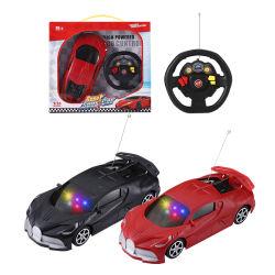 Giocattoli elettrici in plastica per bambini 1: 18 telecomando radio RC Control Car 2 canali con luce 3D