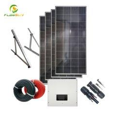 Kits complets d'alimentation solaire 5 kW pour éclairage domestique à grille 5 000 W. Prix du système d'énergie solaire