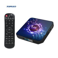 2021 جهاز تلفزيون ذكي بنظام IPTV عبر الإنترنت H9-X3 بنظام Android لجهاز التلفاز جهاز فك التشفير Android 5g TV Box