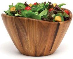 ليببر أنترناشيونال أكاسيا ويف يقدم الكأس للفاكهة أو السلطات، كبير، 12 بوصة قطر × 7 بوصة ارتفاع، وعاء واحد